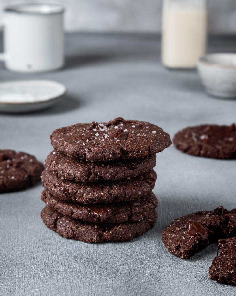 vegan cookies al cioccolato e tahini