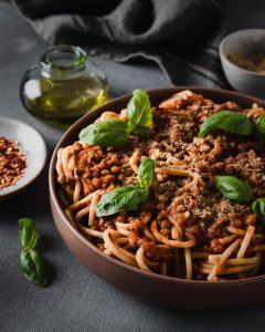 Spaghetti al ragù di lenticchie
