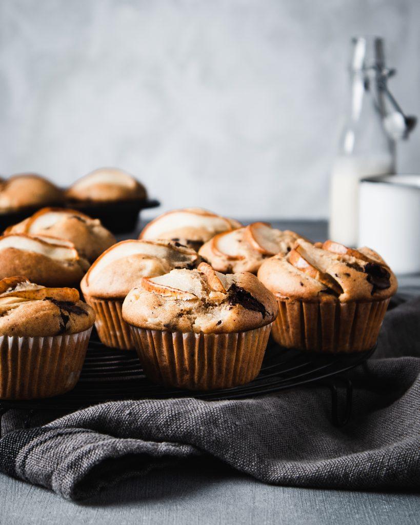muffin alle pere cioccolato e zenzero
