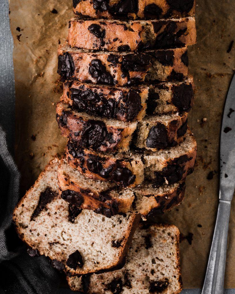 Banana bread con cioccolato fondente