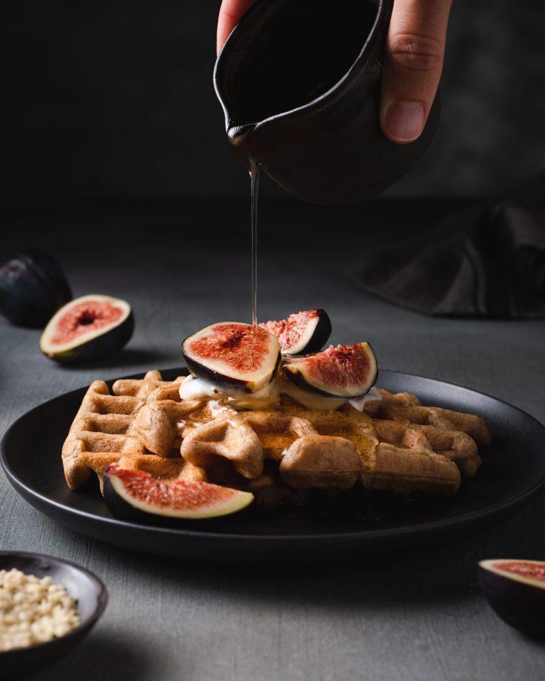 Waffles integrali vegan